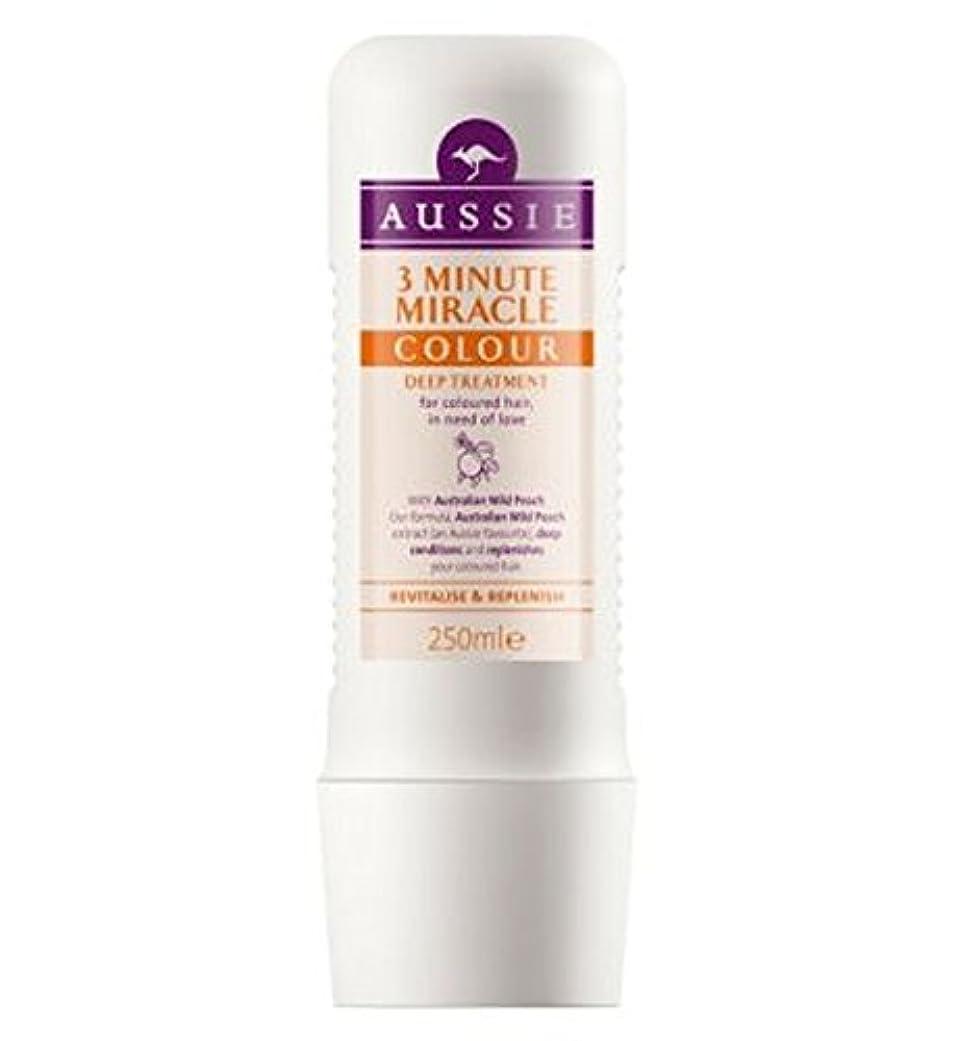 粘り強いオーストラリア定刻オージー3分の奇跡色の深い処理250ミリリットル (Aussie) (x2) - Aussie 3 Minute Miracle Colour Deep Treatment 250ml (Pack of 2) [並行輸入品]