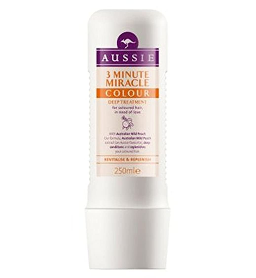 漏斗神経障害代表してオージー3分の奇跡色の深い処理250ミリリットル (Aussie) (x2) - Aussie 3 Minute Miracle Colour Deep Treatment 250ml (Pack of 2) [並行輸入品]