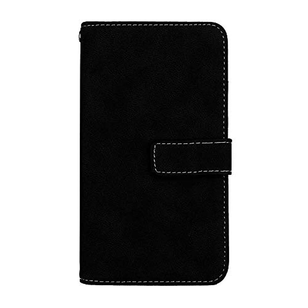 バラ色マーキー指令Xiaomi Redmi 6 高品質 マグネット ケース, CUNUS 携帯電話 ケース 軽量 柔軟 高品質 耐摩擦 カード収納 カバー Xiaomi Redmi 6 用, ブラック