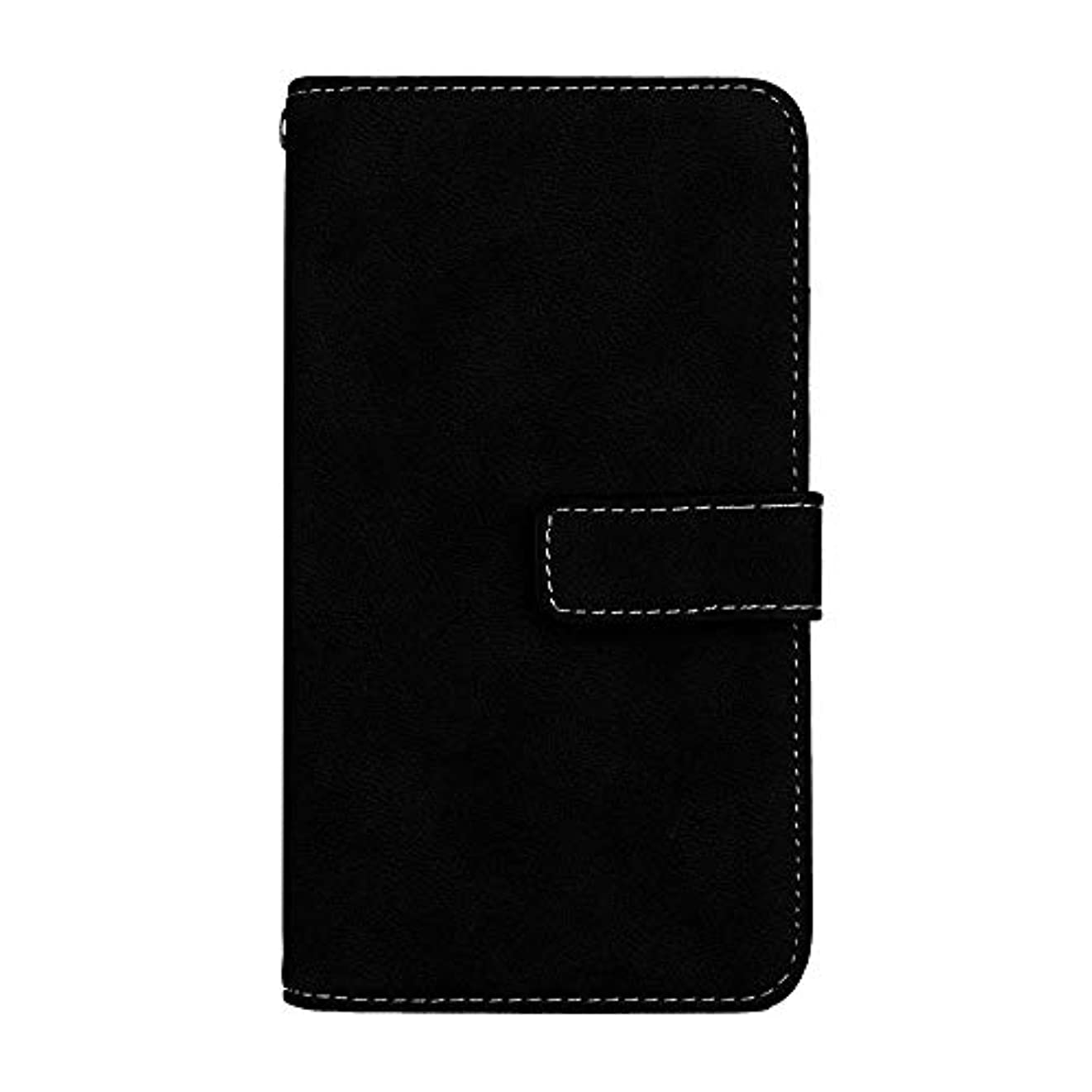 盗難中間機知に富んだXiaomi Redmi 6 高品質 マグネット ケース, CUNUS 携帯電話 ケース 軽量 柔軟 高品質 耐摩擦 カード収納 カバー Xiaomi Redmi 6 用, ブラック