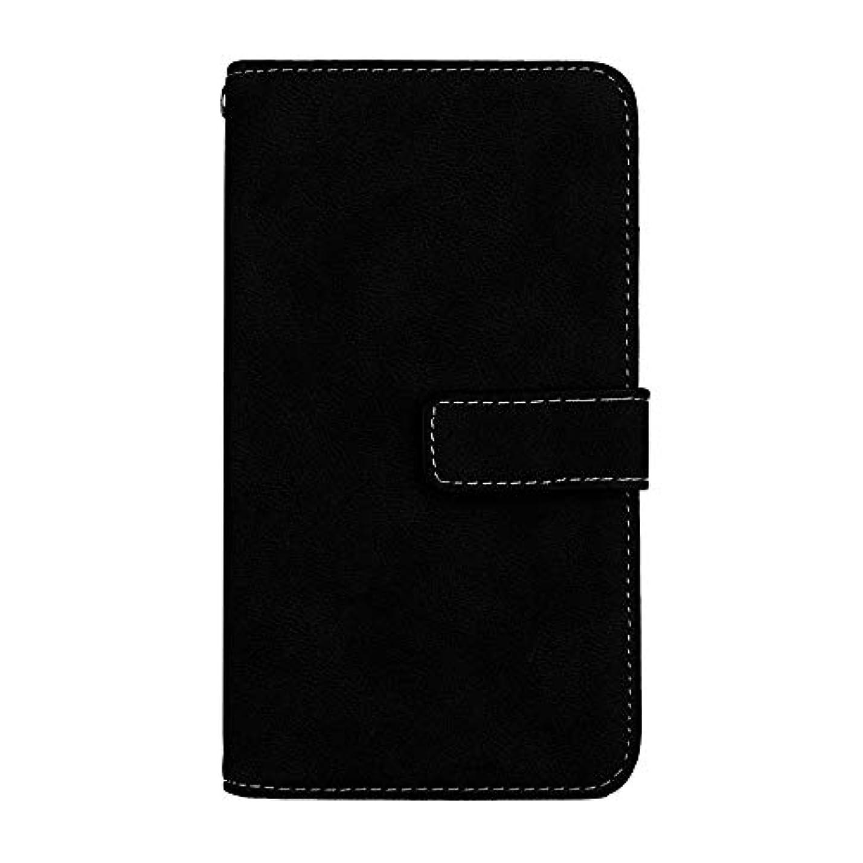 スプーン脊椎影のあるXiaomi Redmi 6 高品質 マグネット ケース, CUNUS 携帯電話 ケース 軽量 柔軟 高品質 耐摩擦 カード収納 カバー Xiaomi Redmi 6 用, ブラック