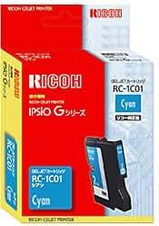 リコー GELJETカートリッジ (Mサイズカートリッジ) シアン RC-1C01 509807