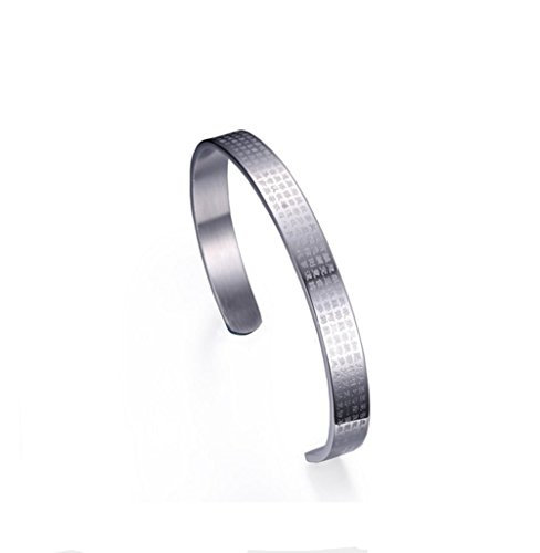 [해외]SFK (사복) 보석 사지 카루 커프 팔찌 폭 8mm 남성 여성 팔찌 반야 심경 성서 문장의 단어 팔찌 실버 실버 액세서리/SFK (Shifuku) Jewelry Surgical Stainless Steel Cuff Bangle Width 8 mm Men`s Women`s Bracelet Wakasa Yoshitsune Words of th...