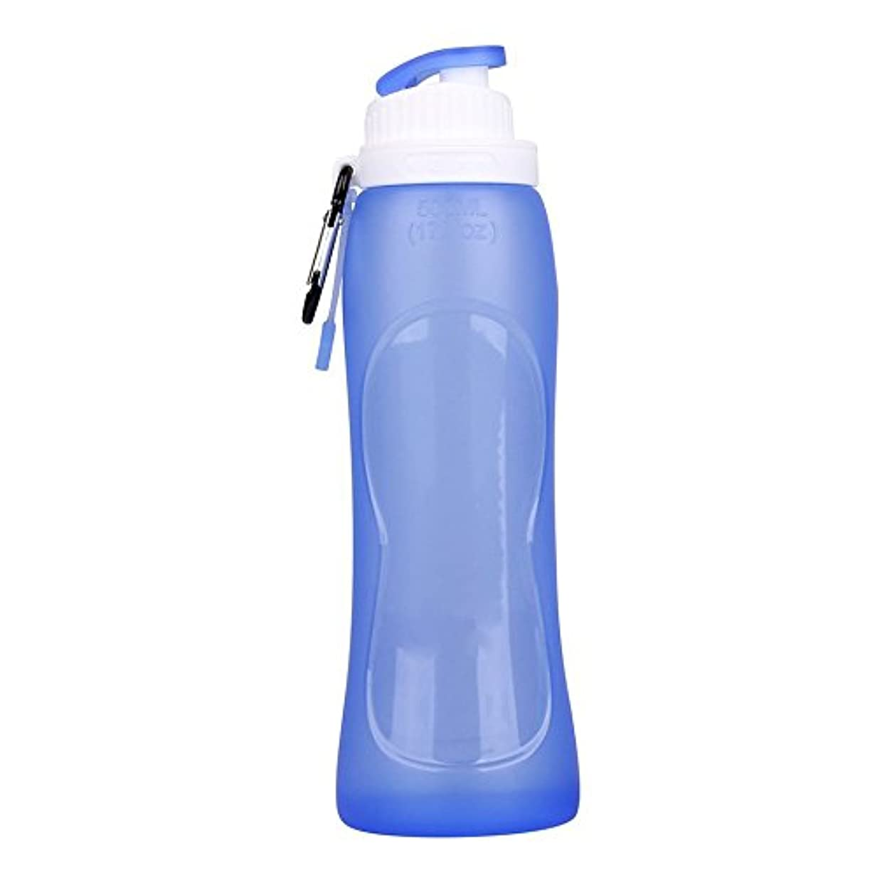 方法論ソフィーの間で折りたたみ式ウォーターボトル – SODIAL ( R )アウトドアスポーツジム折りたたみ式ウォーターボトル(ブルー)