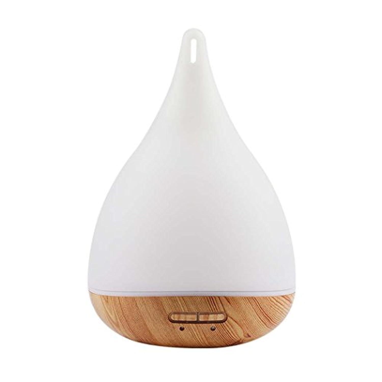 アロマディフューザー、超音波アロマセラピーエッセンシャルオイルディフューザー7カラフルなLEDライト、クールミスト加湿器 (色 : Light wood grain)