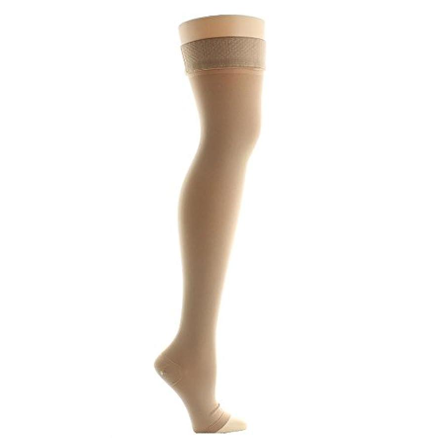 ローズ良い蜂Venosan VenoMedical USA 30-40 mmHg Beige Mid-Thigh with Silicone Top Open Toe by Venosan
