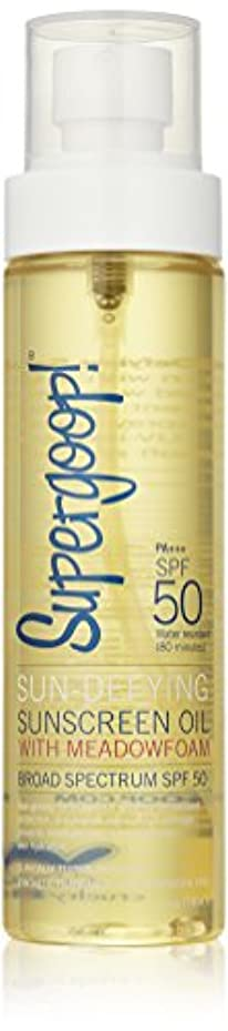 理論的哲学博士統計Supergoop! Sun Defying Sunscreen Oil With Meadowfoam Spf 50 - 5 Oz. (並行輸入品)