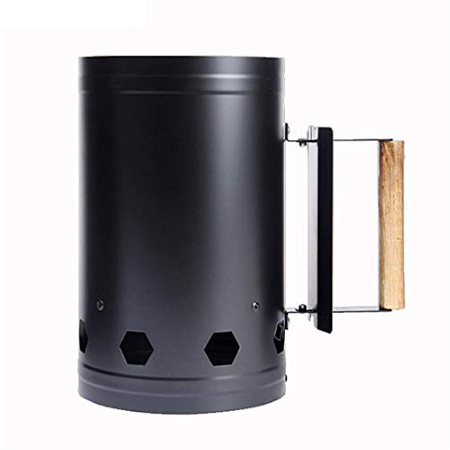 冬弾薬団結する木製ハンドル付き石炭バーナースターター - グリル炭煙突照明 - バーベキューキャンプ用炭スターター - バーベキュークイックスタート