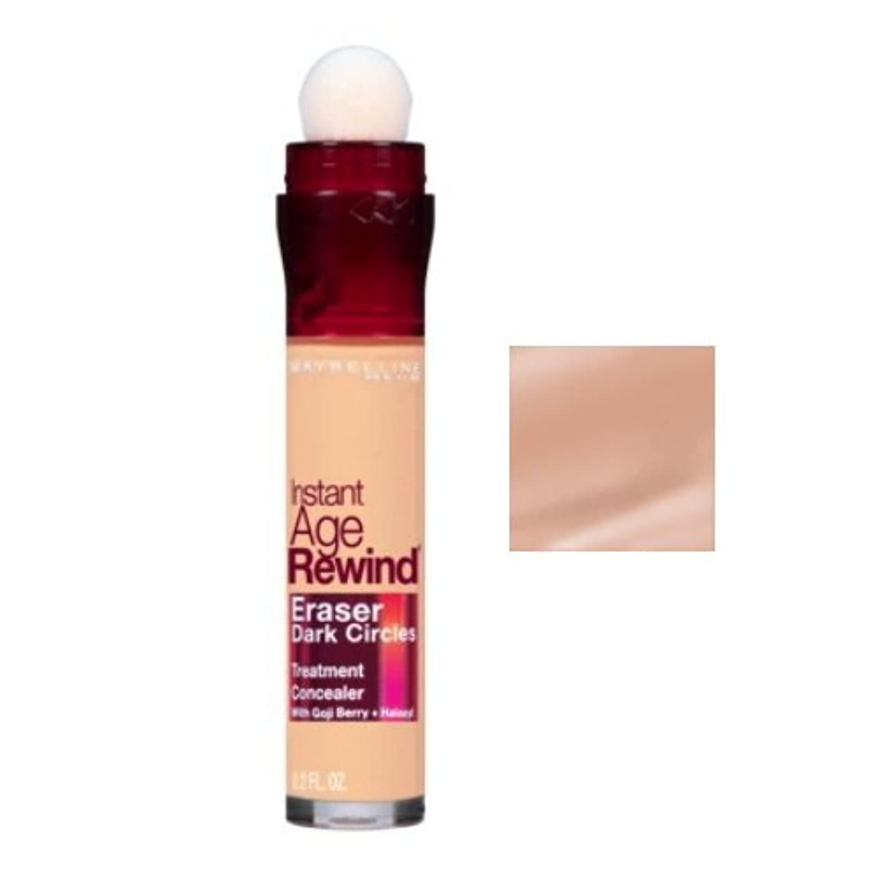 カプラー忍耐正当化するMAYBELLINE Instant Age Rewind Eraser Dark Circles + Treatment - Honey (並行輸入品)