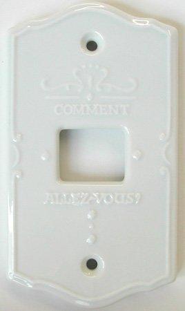 セラミックスイッチプレート ポーセレン(1穴)