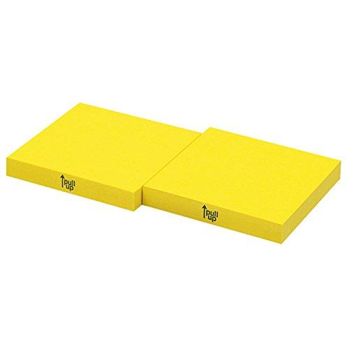 コクヨ 付箋 ドットライナー ラベル 黄色 74・74mm 100枚 10個入 メ-L2001-Y