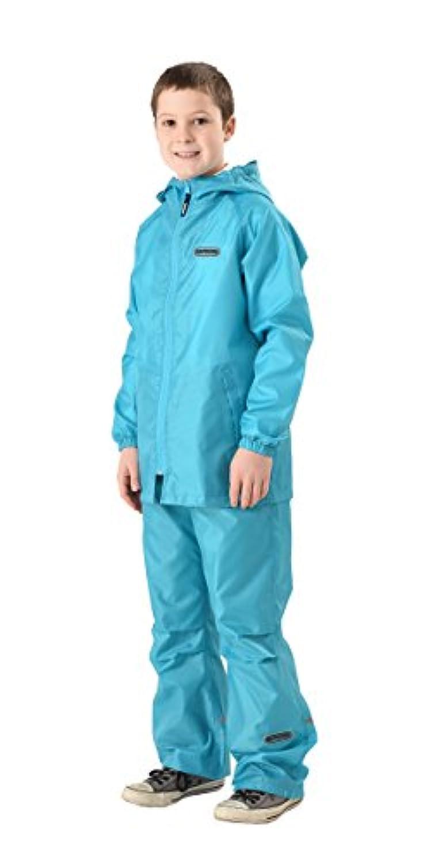 OUTDOOR PRODUCTS(アウトドアプロダクツ) 子供用 レインスーツ 全5色 全3サイズ サックス 140 135~145cm ODPKRS-SA-140