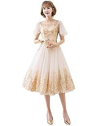 5462d4f60b1f7 Amazon.co.jp  ゴールド - ワンピース・チュニック   ワンピース・ドレス ...