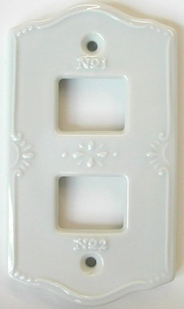 RoomClip商品情報 - セラミック スイッチプレート ポーセレン (2穴)
