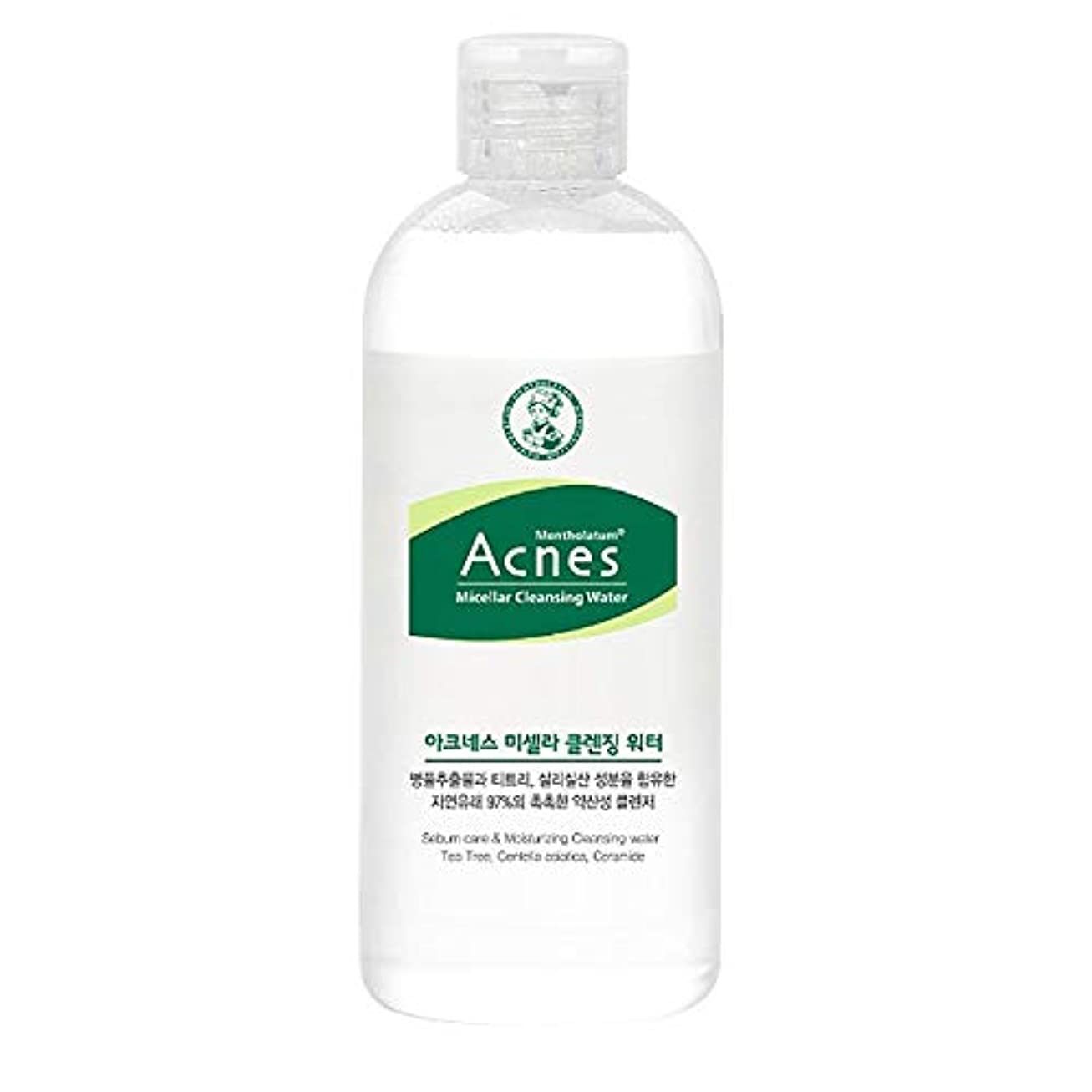リフト何アナウンサー[Acnes] アクネス ミシェーラ クレンジング ウォーター Micellar Cleansing Water メイク落とし - Acne Eliminating Face Cleanser, Balance Oil Cleansing Water with Tea tree, Centella Asiatica for Oily and Sensitive Skin Korean Skincare #Dab1163