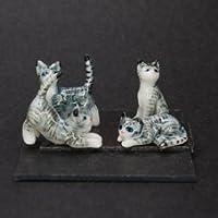 AN 陶器製 CAT4匹セット 063