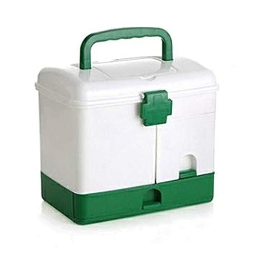緊急用バッグ 家庭用分類薬品箱プラスチック製救急箱サイズドラッグ収納ボックス家庭、病院、オフィス、学校、旅行に適しています/ 30 x 22 x 25.8 cm HMMSP