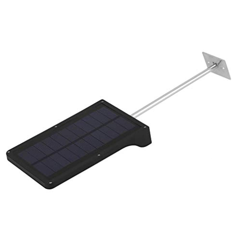アリス熱心な石灰岩36 LEDソーラーパワーモーションセンサー赤外線誘導ガーデンセキュリティランプ屋外防水ライトウォールマウントライト(ロッド付きブラックウォームホワイトライト)