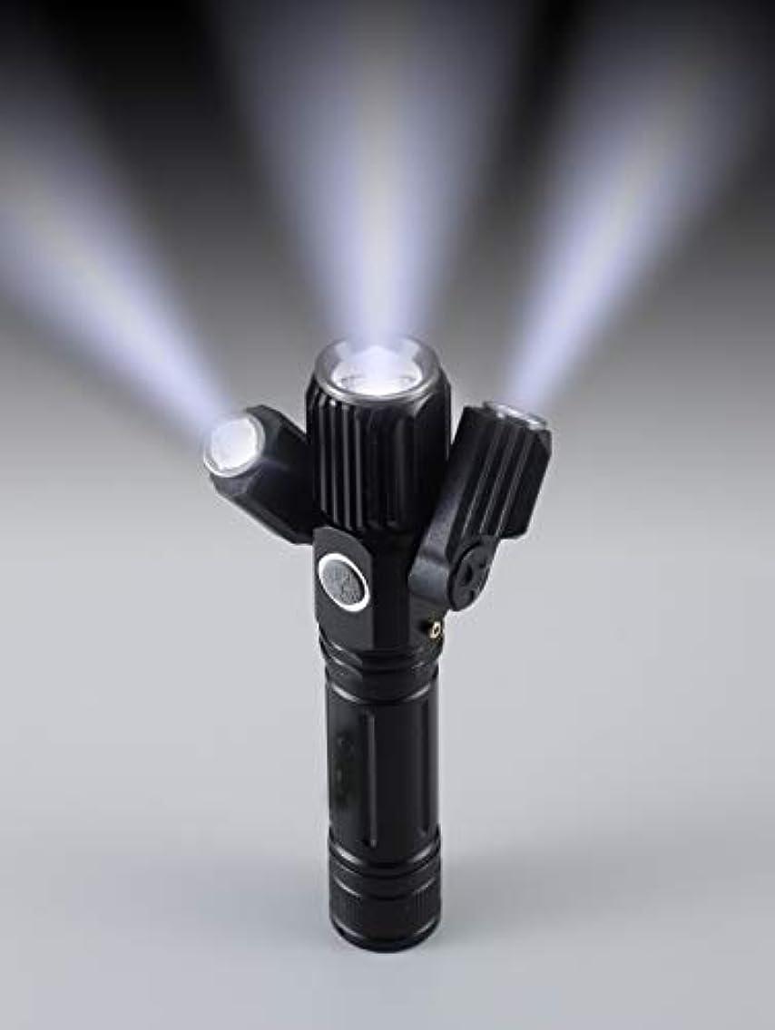 含意たくさんの教400m照射の充電式3灯ズームライト