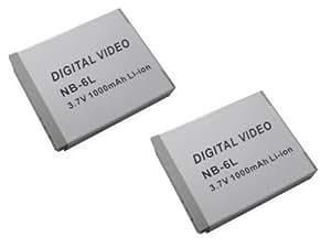 【2個セット】キヤノン IXY DIGITAL 25 ISの  NB-6L  対応バッテリー