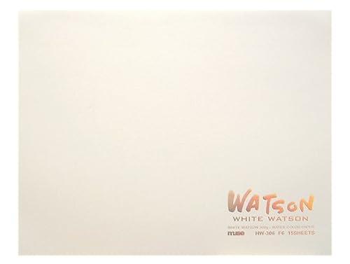 ミューズ 水彩紙 ホワイトワトソンブロック F4 300g ホワイト 15枚入り HW-304 F4
