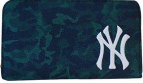 イーカム MLB 長財布 ニューヨークヤンキース カモ柄 YK-WLT10 (CAMO-GREEN)
