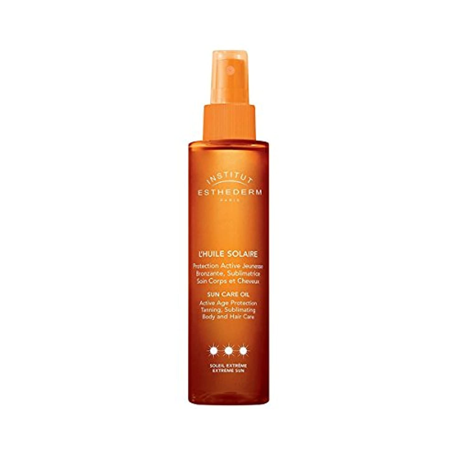 アラブ人動物うねるInstitut Esthederm Protective Sun Care Oil For Body And Hair Strong Sun 150ml [並行輸入品]