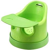 テーブルのためのポータブルベビーシート、ユニバーサル車輪の幼児の餌椅子楽しいための小さなスツールかわいい回転車 (色 : Green)