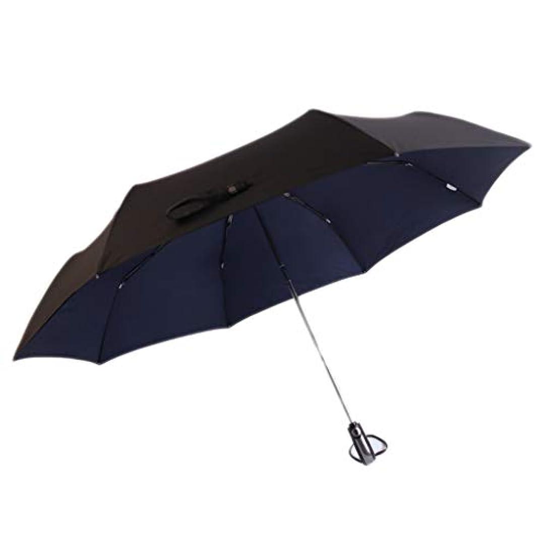 リビジョンカタログドナー傘の防風強化の折り畳み傘二重使用太陽の傘 (色 : 青)