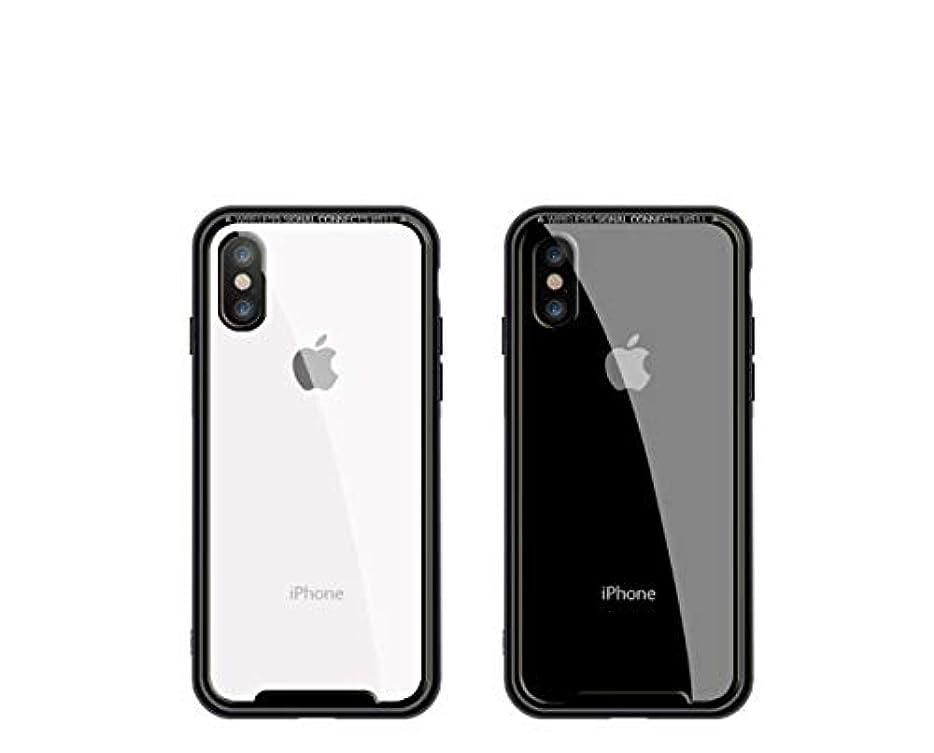スモッグ偏見欠陥iPhoneX ガラス電話ケース クリエイティブ iPhone7 転倒防止 iPhone8 オールインクルーシブ プラス 保護カバー 背面クリア 耐衝撃