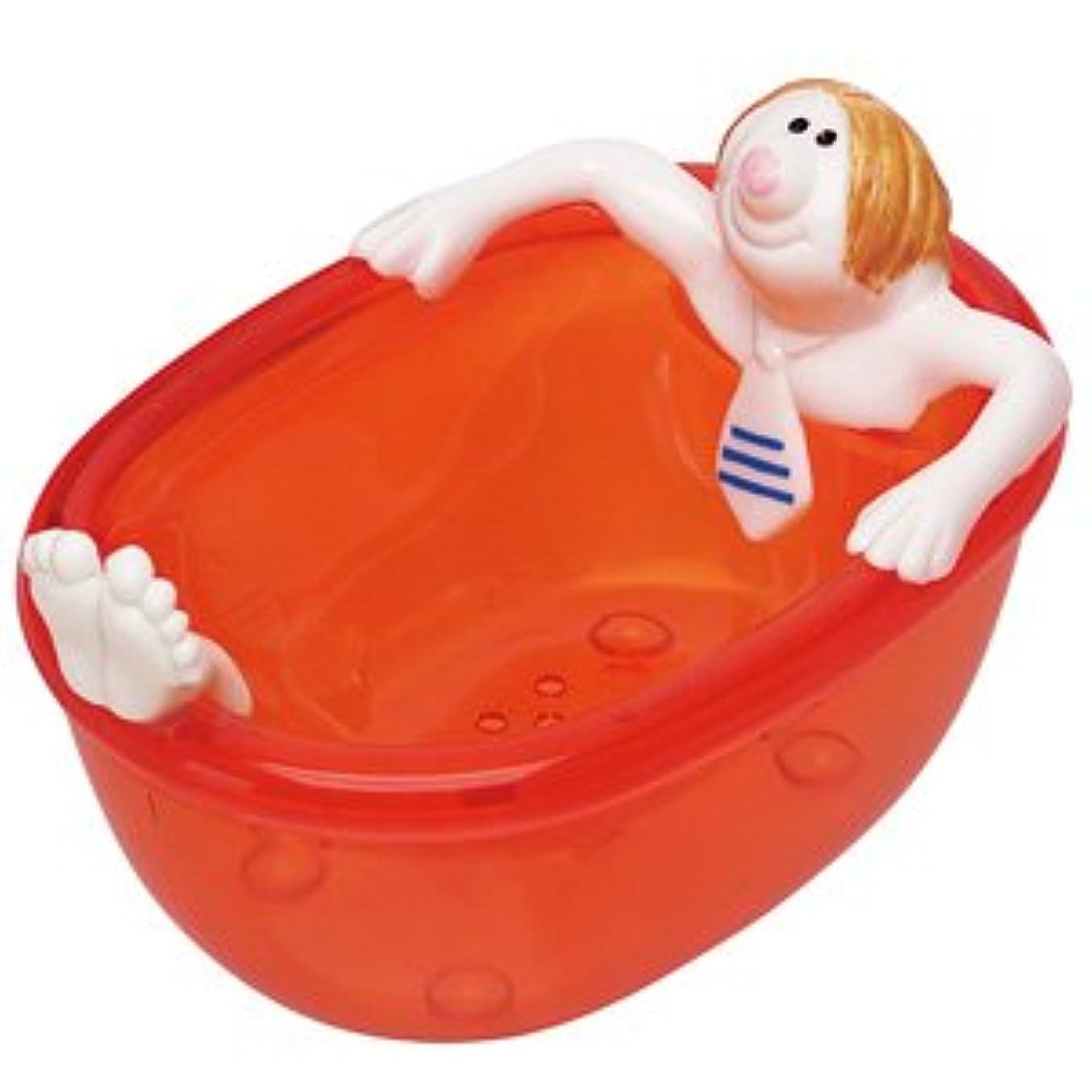 愛するスナップ酸素ジャブジャブ石鹸箱 オレンジ