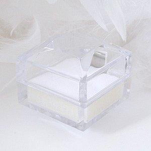 ジュエリーコトブキ 氷のような キレイな 透明ジュエリーケース(ネックレス リング ピアス)【外箱 簡易ラッピング付セット】