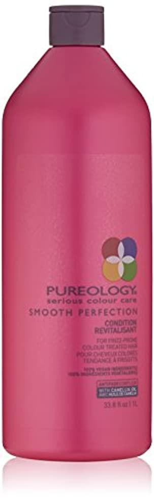 代わりにを立てる閉じる有彩色のby Pureology SMOOTH PERFECTION CONDITION RECVITALISANT 33.8 OZ by PUREOLOGY