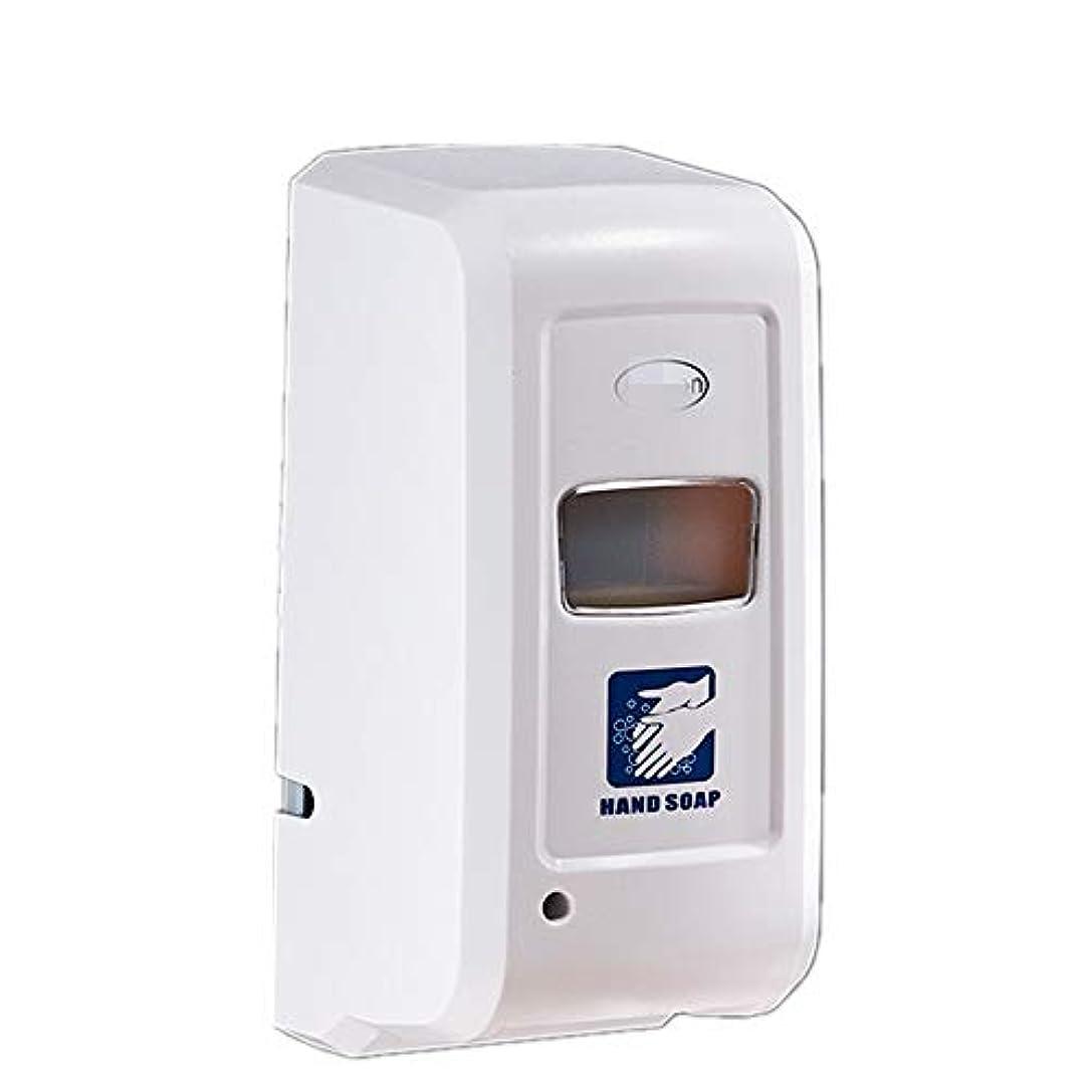 うまレビュアー喉頭ソープディスペンサー 1000mlの容量自動ソープディスペンサー非接触自動誘導バッテリーは、ソープディスペンサーを運営しました ハンドソープ 食器用洗剤 キッチン 洗面所などに適用 (Color : White, Size...