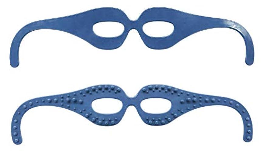 文明化効果的に開梱目元スッキリ! 気分爽快! 整体師の資格を持つ眼鏡デザイナーが開発した簡単顔ツボ刺激の超リラックスメガネ。 FI7408-1