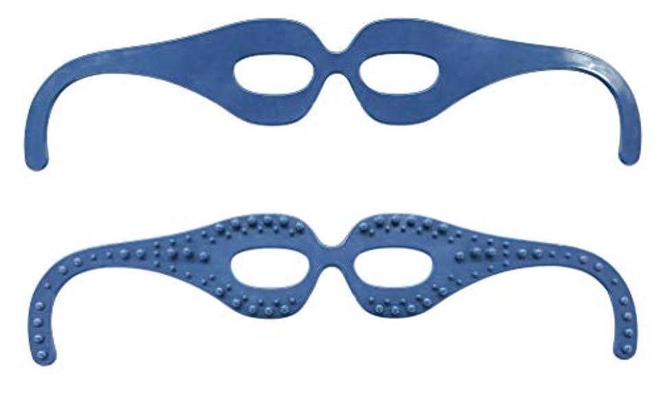 ハンバーガーはがき取得目元スッキリ! 気分爽快! 整体師の資格を持つ眼鏡デザイナーが開発した簡単顔ツボ刺激の超リラックスメガネ。 FI7408-1
