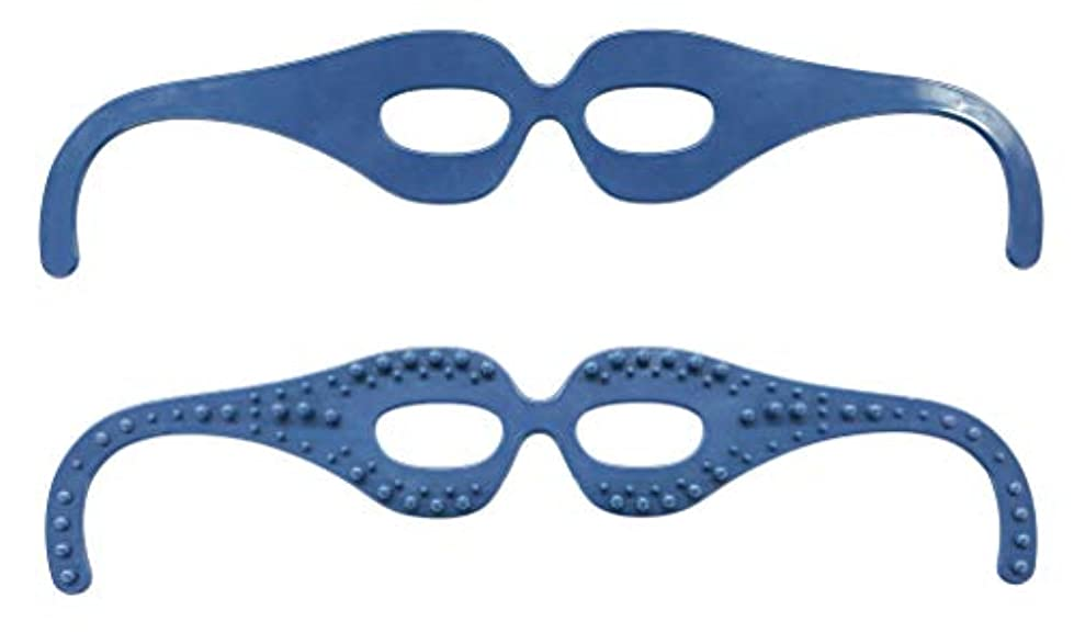 安全でない有効一節目元スッキリ! 気分爽快! 整体師の資格を持つ眼鏡デザイナーが開発した簡単顔ツボ刺激の超リラックスメガネ。 FI7408-1