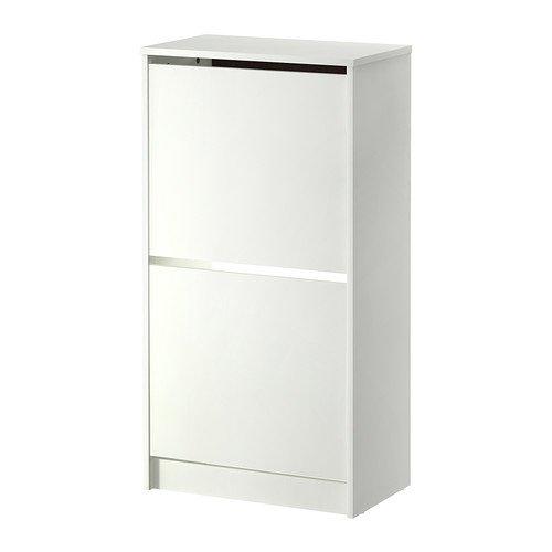 RoomClip商品情報 - IKEA(イケア) BISSA 靴収納用キャビネット 2コンパートメント, ホワイト (30242738)
