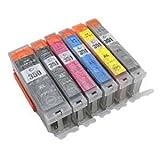 BCI-351XL+350XL/6MP キャノン 互換インク BCI-351 350 6色セット Canon 1年保証付 ICチップ付 プリンター保証付
