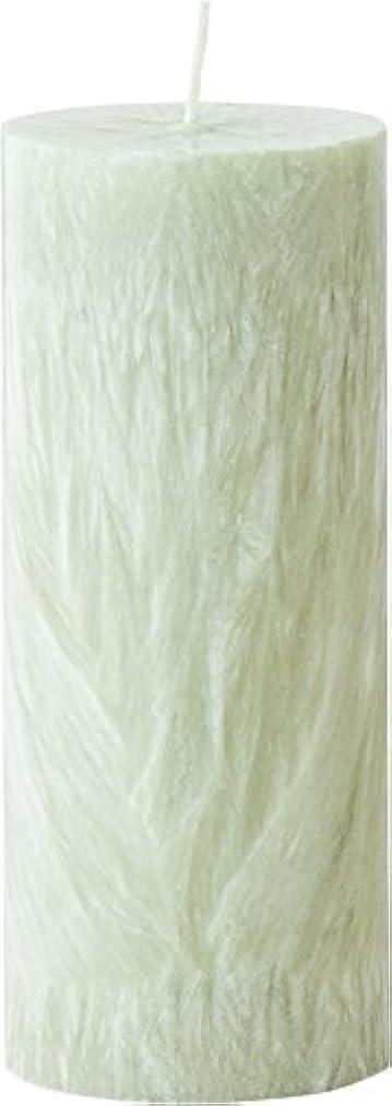 生き物シングルビクターカメヤマキャンドルハウス パームマーブルピラーキャンドル 直径5cm×高さ12.7cm シーモスグリーン