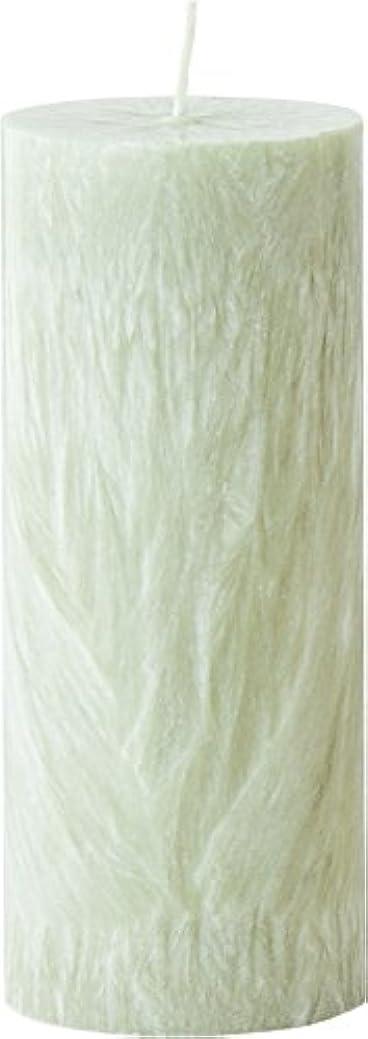 写真を描く厚さ精度カメヤマキャンドルハウス パームマーブルピラーキャンドル 直径5cm×高さ12.7cm シーモスグリーン