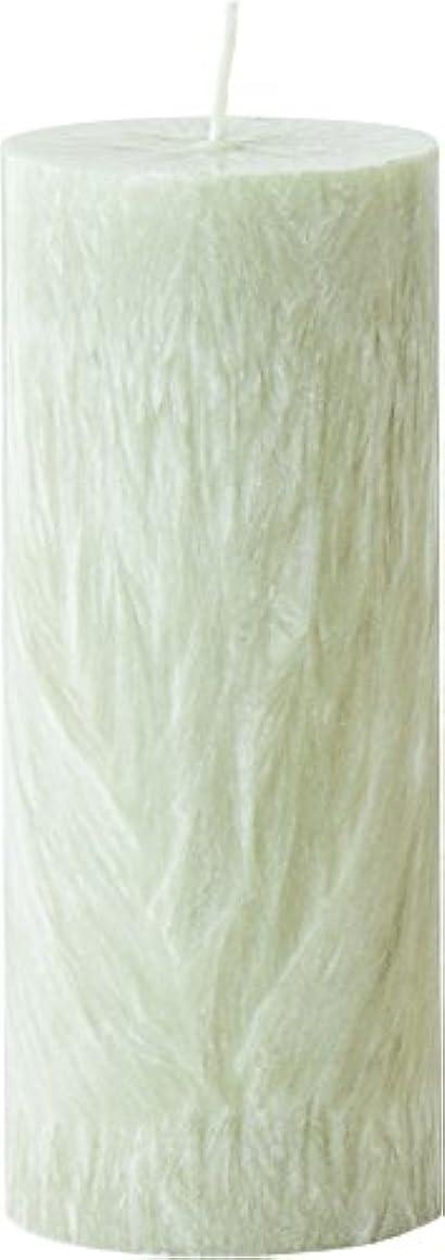 フォーラムジェム散逸カメヤマキャンドルハウス パームマーブルピラーキャンドル 直径5cm×高さ12.7cm シーモスグリーン