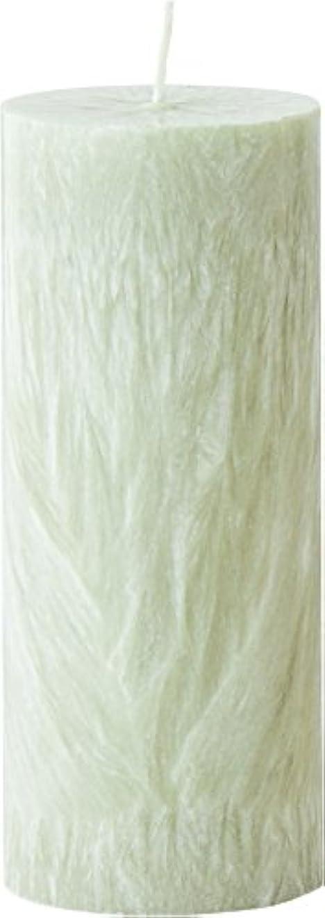 甥接続されたベーカリーカメヤマキャンドルハウス パームマーブルピラーキャンドル 直径5cm×高さ12.7cm シーモスグリーン