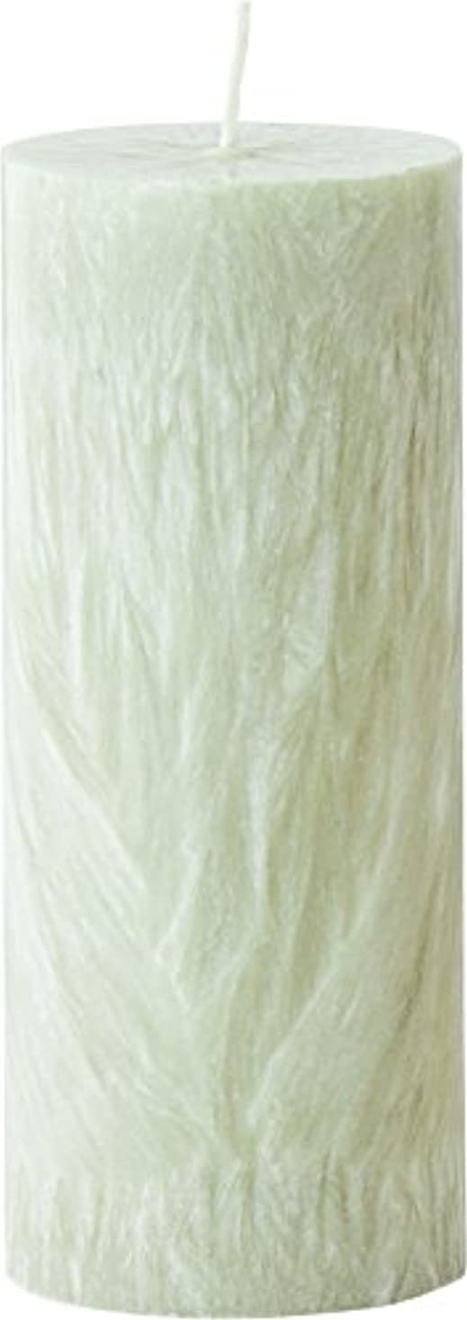 関連付ける抑止する癒すカメヤマキャンドルハウス パームマーブルピラーキャンドル 直径5cm×高さ12.7cm シーモスグリーン