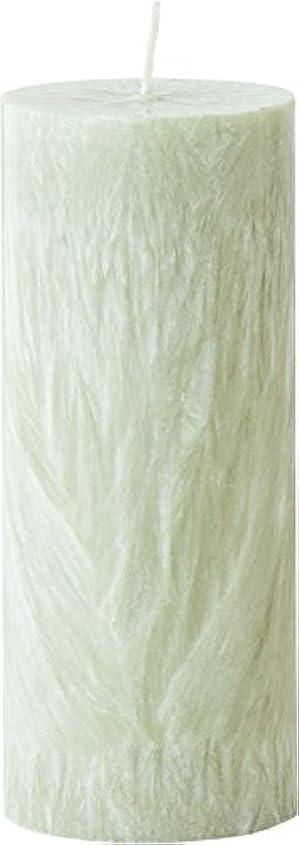 デモンストレーション増幅器姿を消すカメヤマキャンドルハウス パームマーブルピラーキャンドル 直径5cm×高さ12.7cm シーモスグリーン