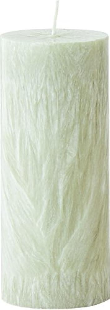 シャワーリクルート見出しカメヤマキャンドルハウス パームマーブルピラーキャンドル 直径5cm×高さ12.7cm シーモスグリーン