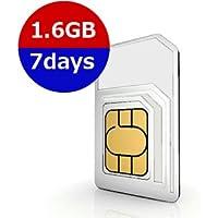 韓国・日本2ヵ国利用7日間プリペイドSIM 4G・3Gデータ通信1.6GB