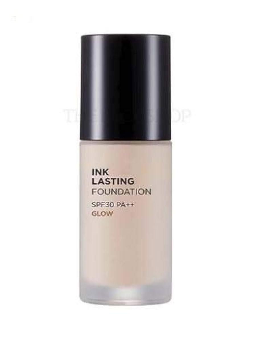 スイ二層不正直[ザ?フェイスショップ] THE FACE SHOP [インクラスティングファンデーション - グロー 30ml] (Ink Lasting Foundation - Glow SPF30 PA++ 30ml) [海外直送品] (N201 - Apricot Beige)