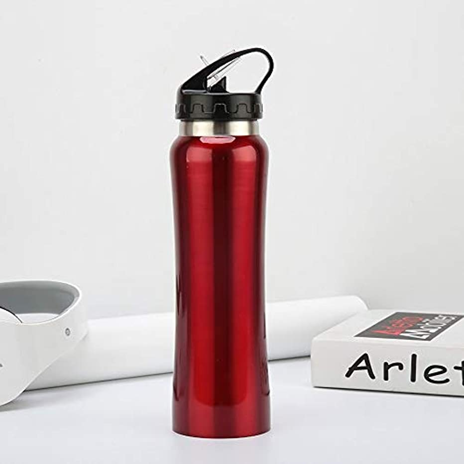 めまいがとにかく高音Dobetter ステンレス鋼の大容量500MLスポーツボトル、スタイリッシュなアウトドアトラベルカップ (Color : Red)