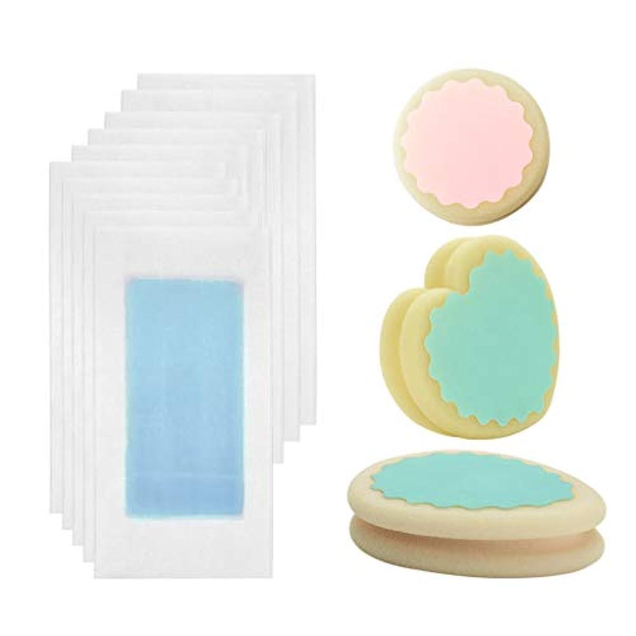ハシーベッドを作る意味するHellery スポンジ ワックスストリップ 脱毛スポンジワックスストリップ 全3カラー - 青